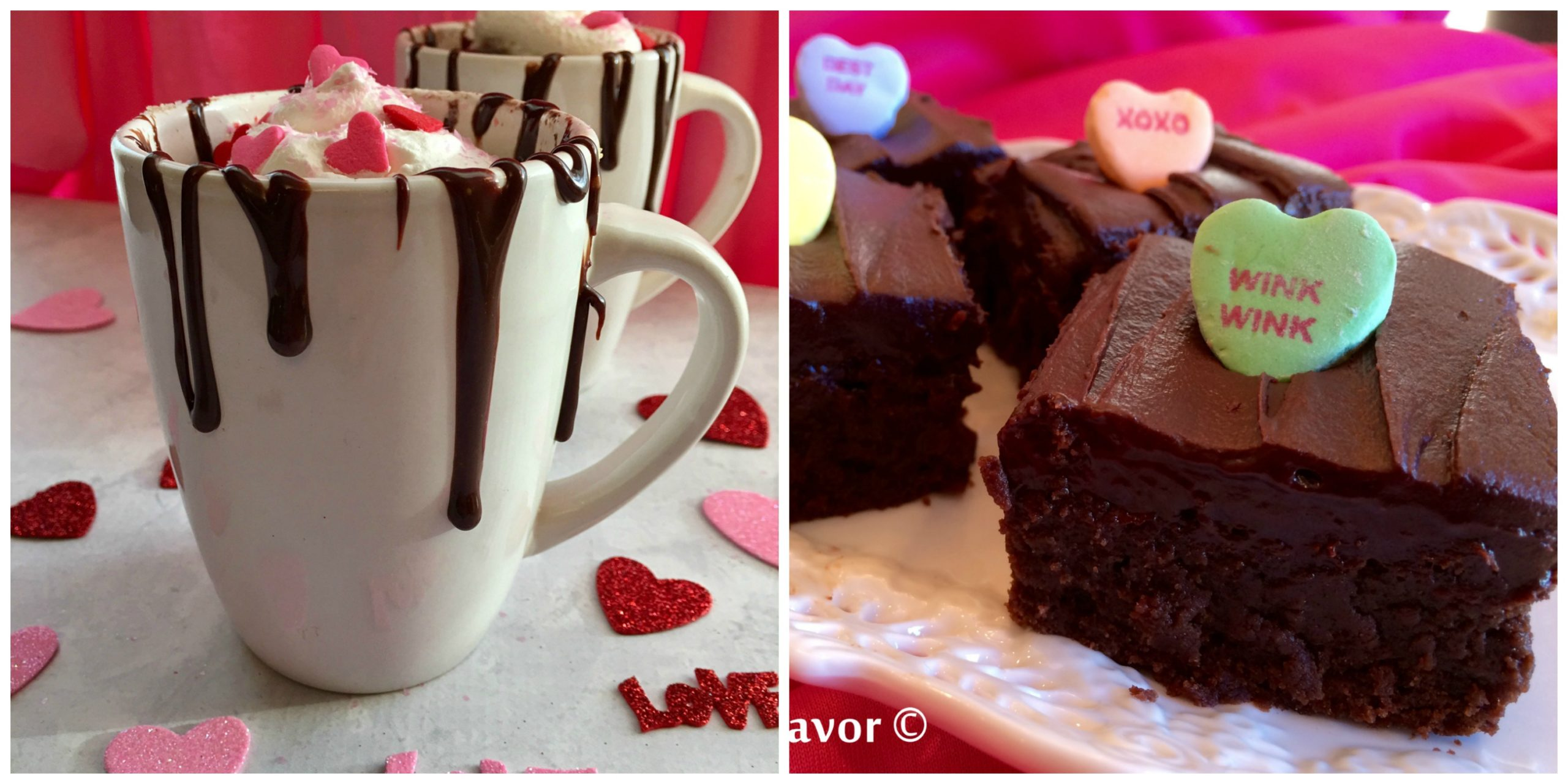 Hot Chocolate Mug Cake and Espresso Kahlua Brownies