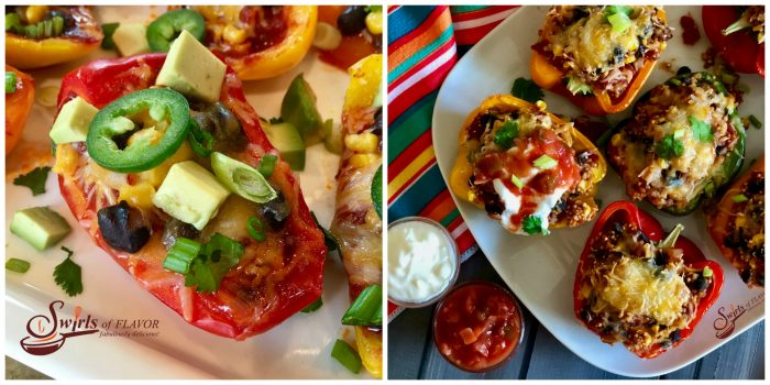 Nacho Stuffed Peppers and Mexican Quinoa Stuffed Peppers