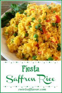 Close up of Fiesta Saffron Rice in bowl