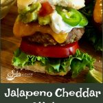Jalapeno Cheddar Sliders is an easy recipe for mini ground beef burgers that are packed with the flavors of pickled jalapenos, scallions, garlic and spices and topped with a Cilantro Lime Aioli.