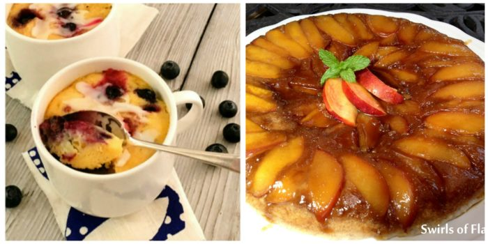 Blueberry Mug Cake and Nectarine Skillet Cake