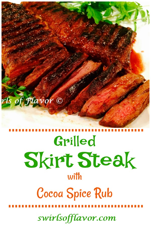 Grilled Skirt Steak with Cocoa Spice Rub, flavored with a sweet and spicy dry rub, will be a hit at dinner tonight. Our Cocoa Spice Rub adds the perfect balance of sweet and savory flavors to this grilled steak recipe.