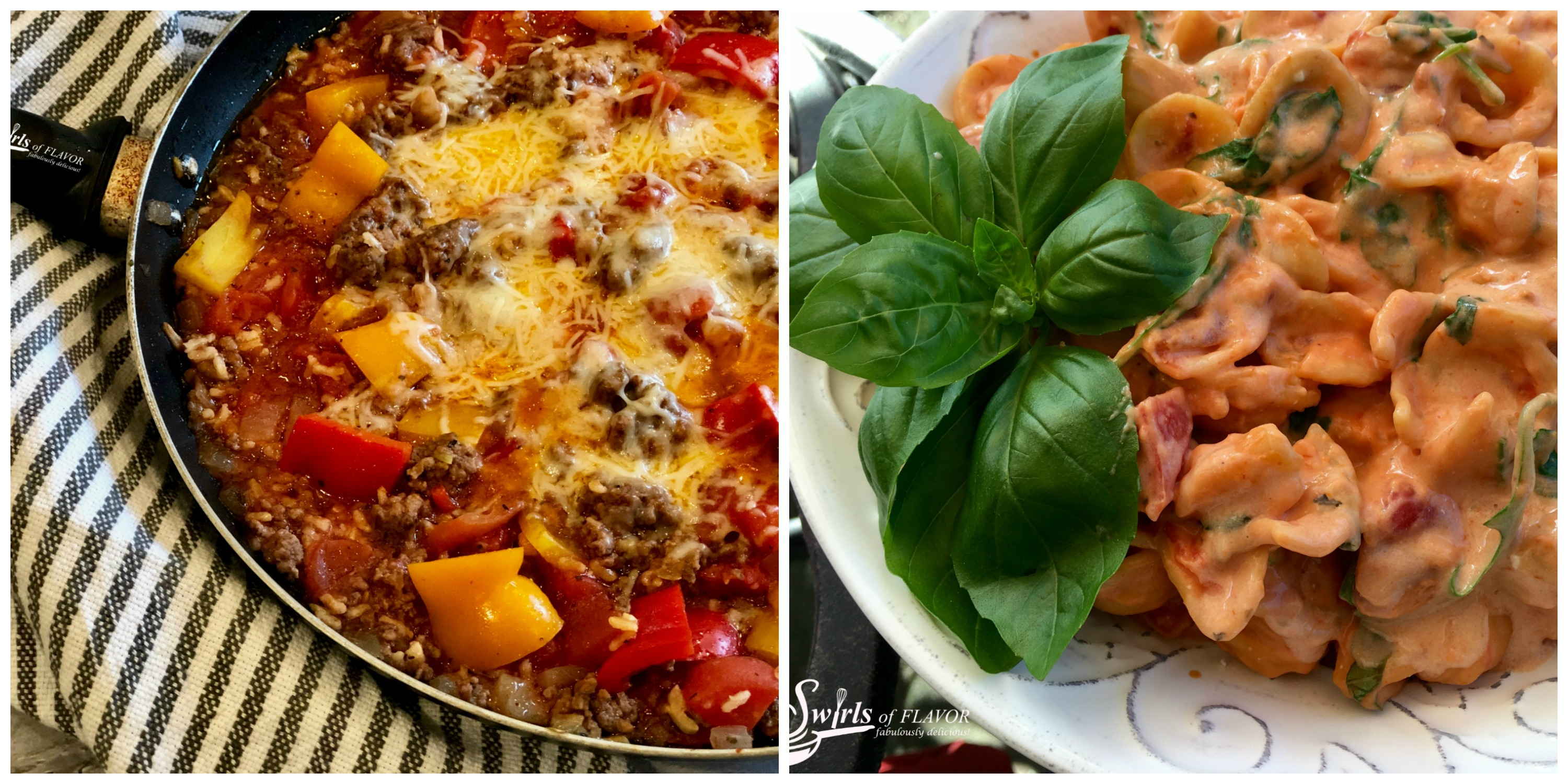Unstuffed Peppers and Creamy Tomato Basil Pasta