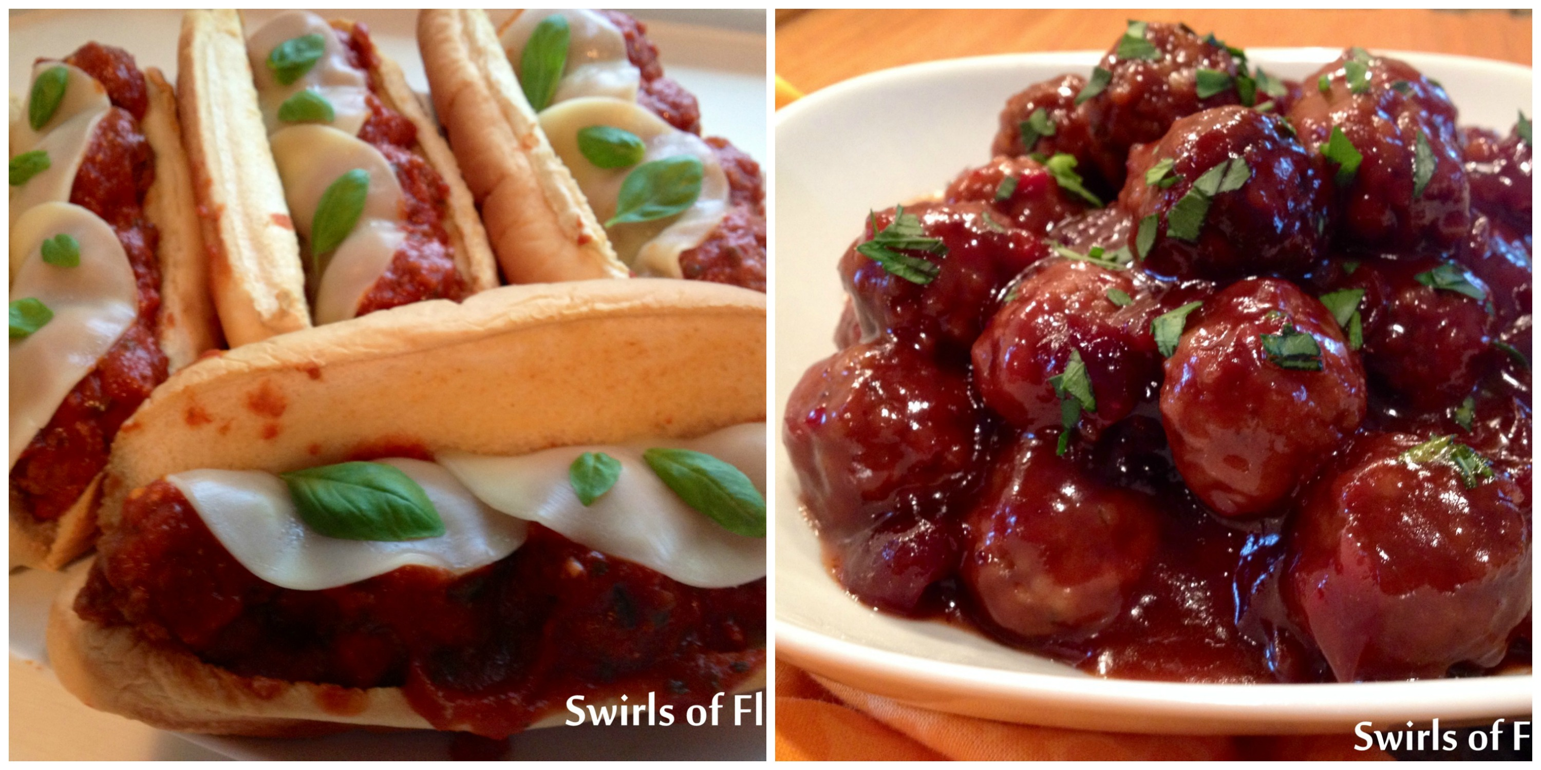 Meatball Heroes and Cranberry Meatballs