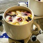 Blueberry Mug Cake Recipe With Lemon Glaze