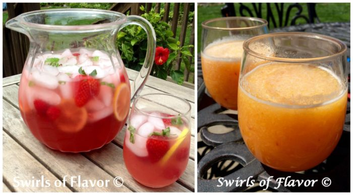 Berry Prosecco Punch and Peach Bellini Slushy