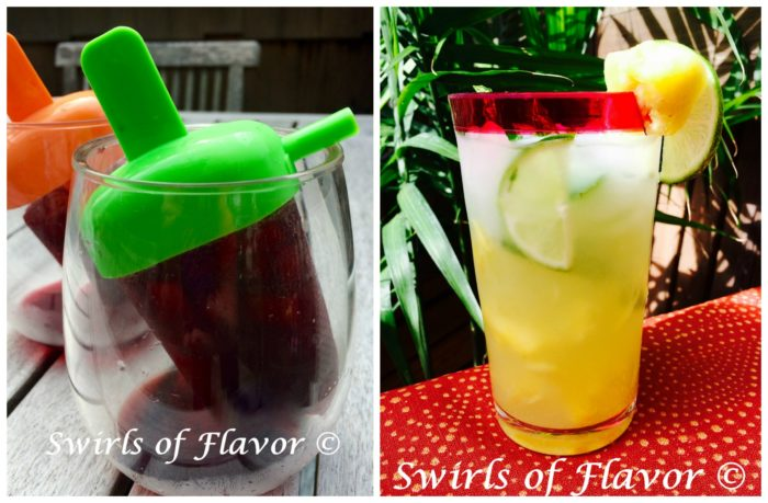 Wine Ice Pops and Pineapple Mojito Punch