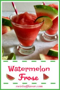 Glass of watermelon frose slushy