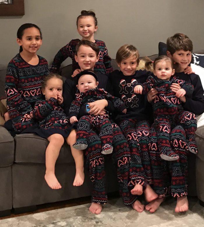 GG's eight grandchildren