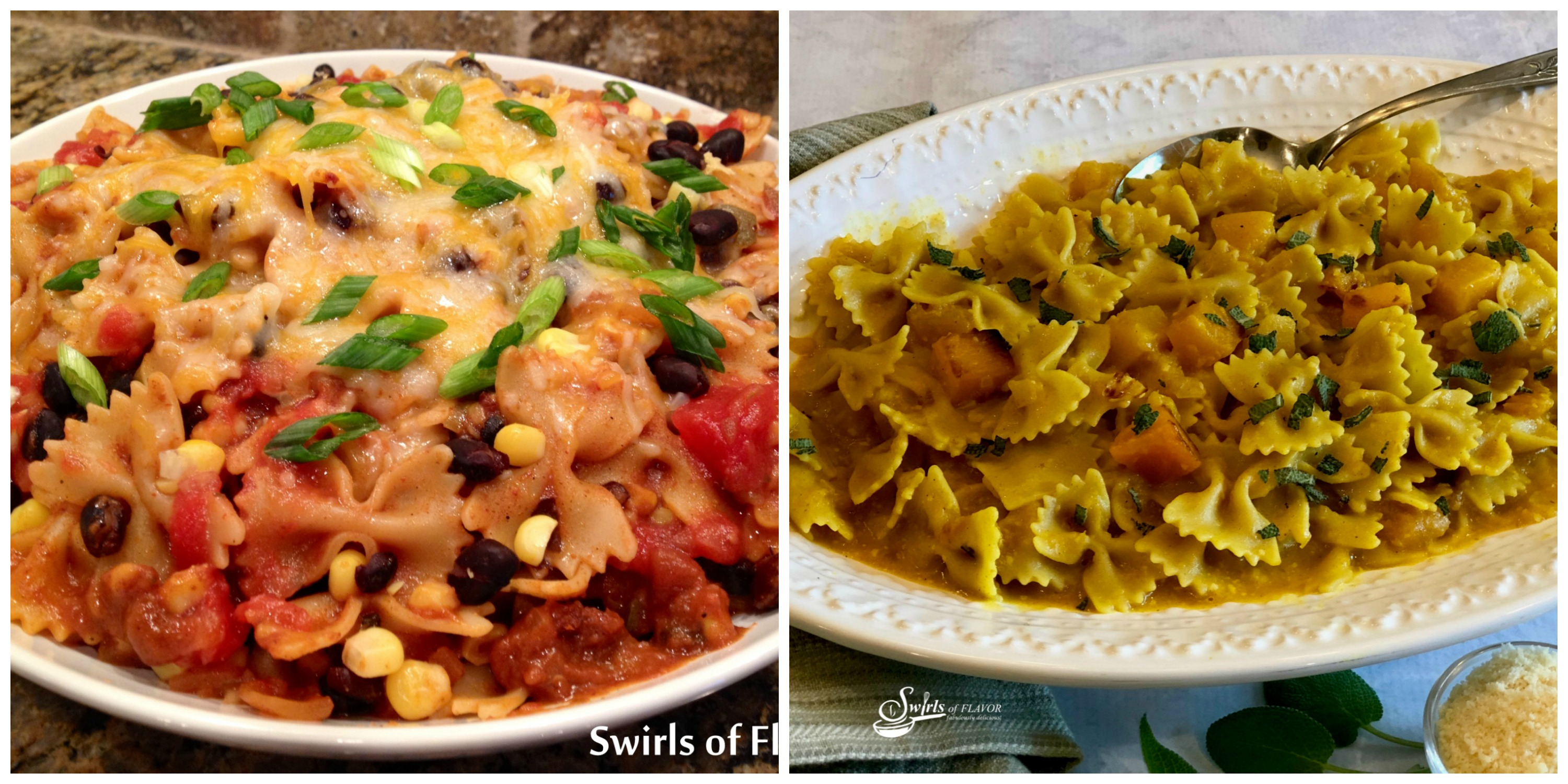 Mexicali Pasta and Butternut Squash Pasta