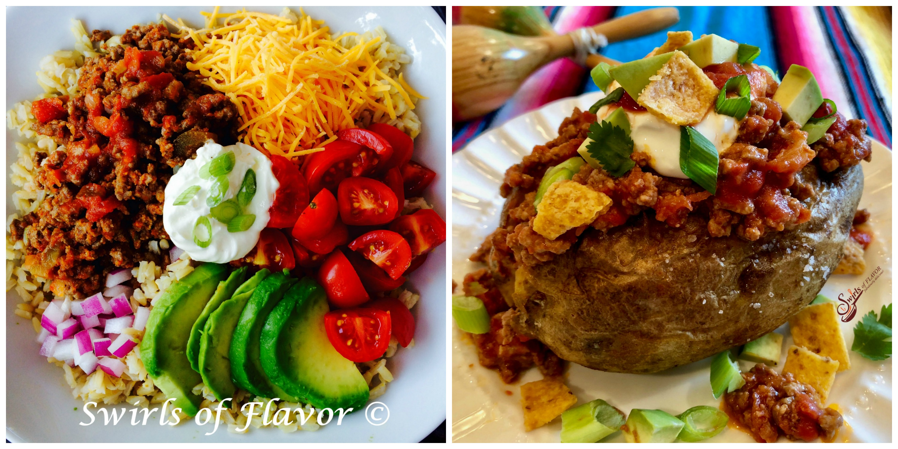 Taco Bowl and Taco Stuffed Potato
