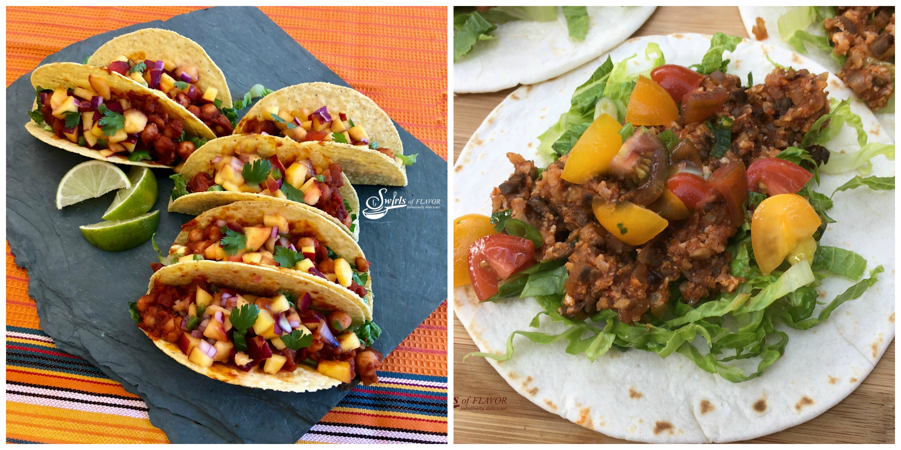 Vegan Tacos and Cauliflower Tacos