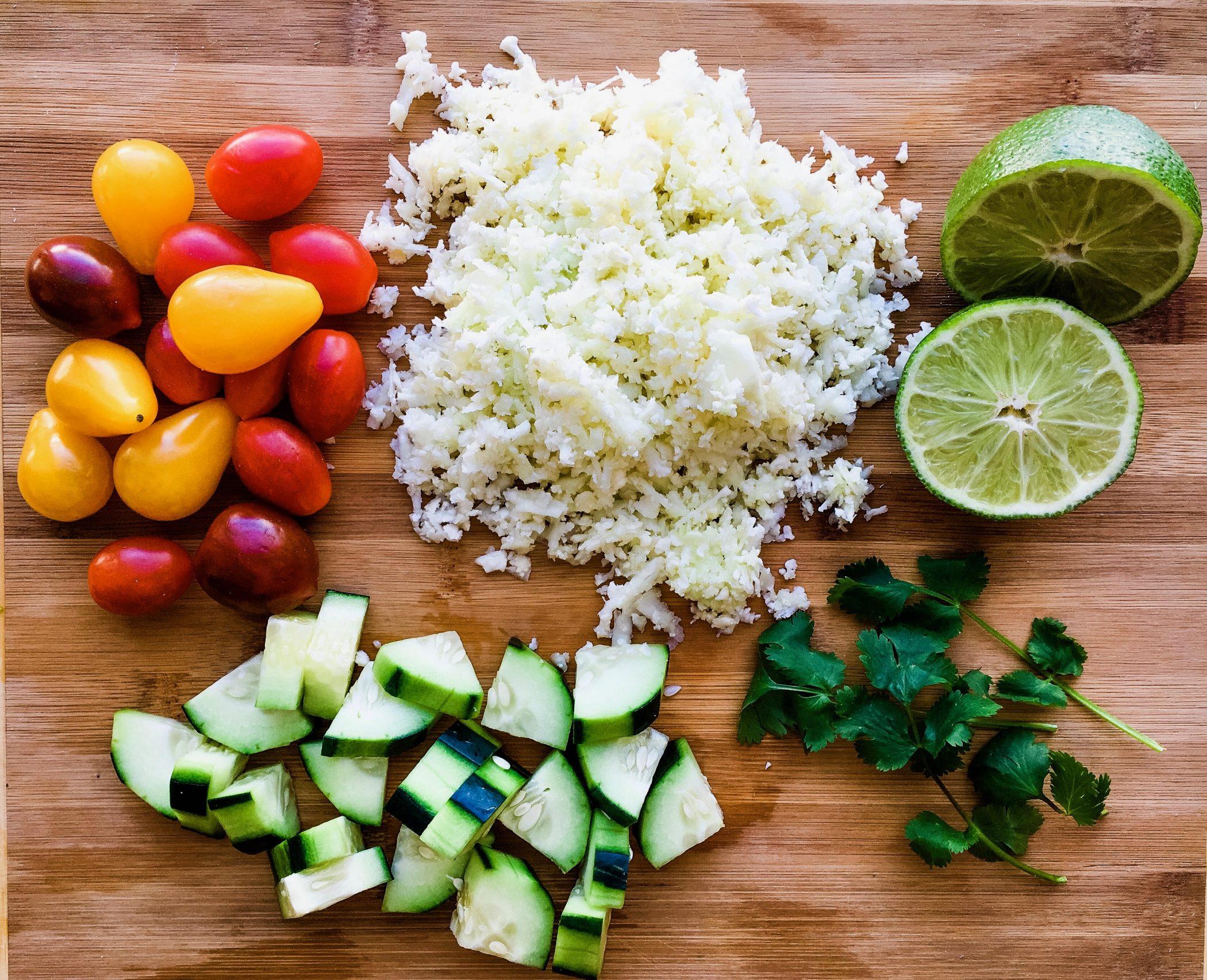 ingredients to make cauliflower salad recipe