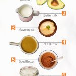Ingredients to use as a base for a creamy salad dressing