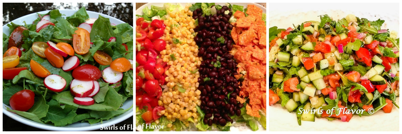 Baby Kale Salad, Mexicali Salad, Chopped Arugula Salad
