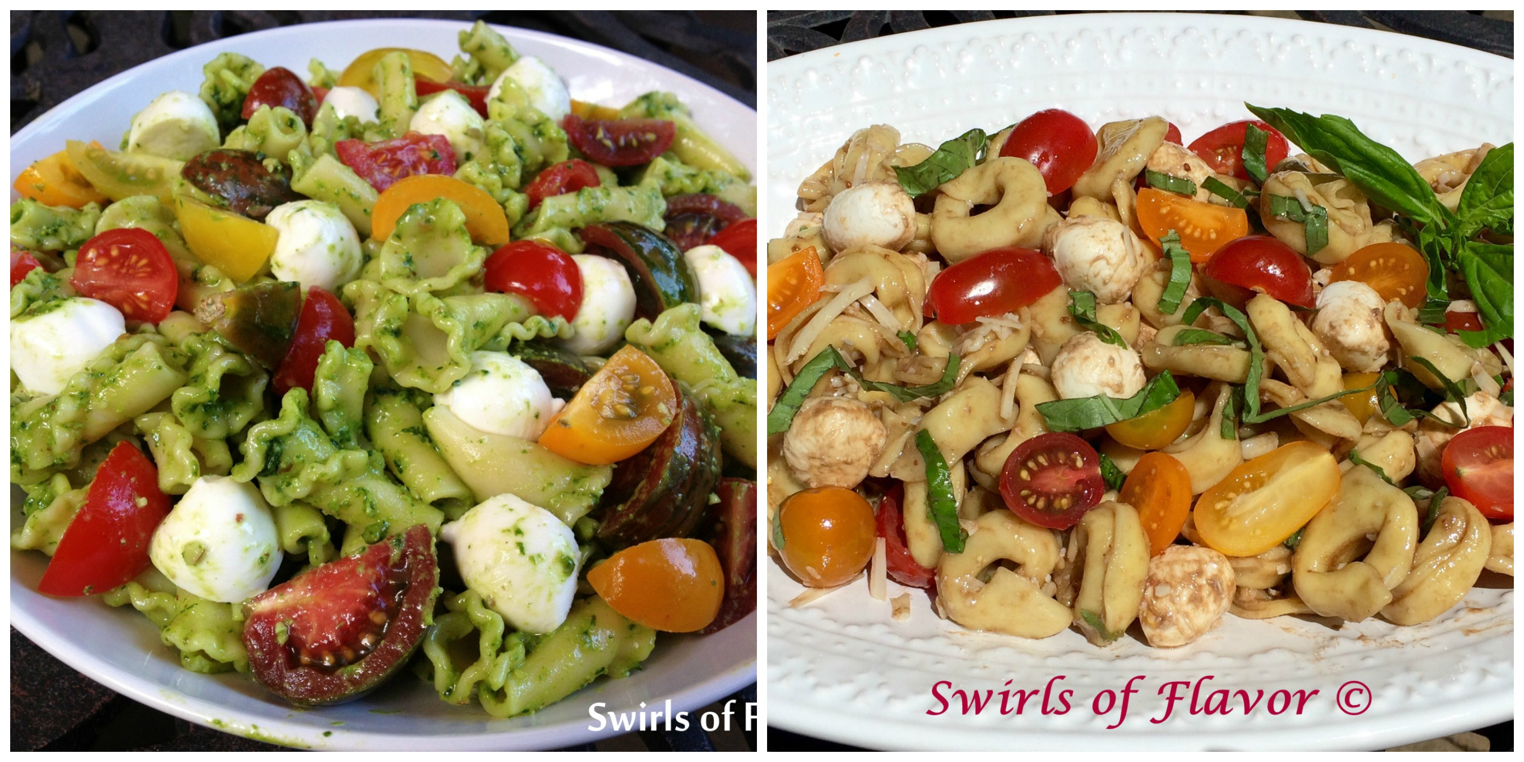 Pesto Pasta Salad and Balsamic Pasta Salad