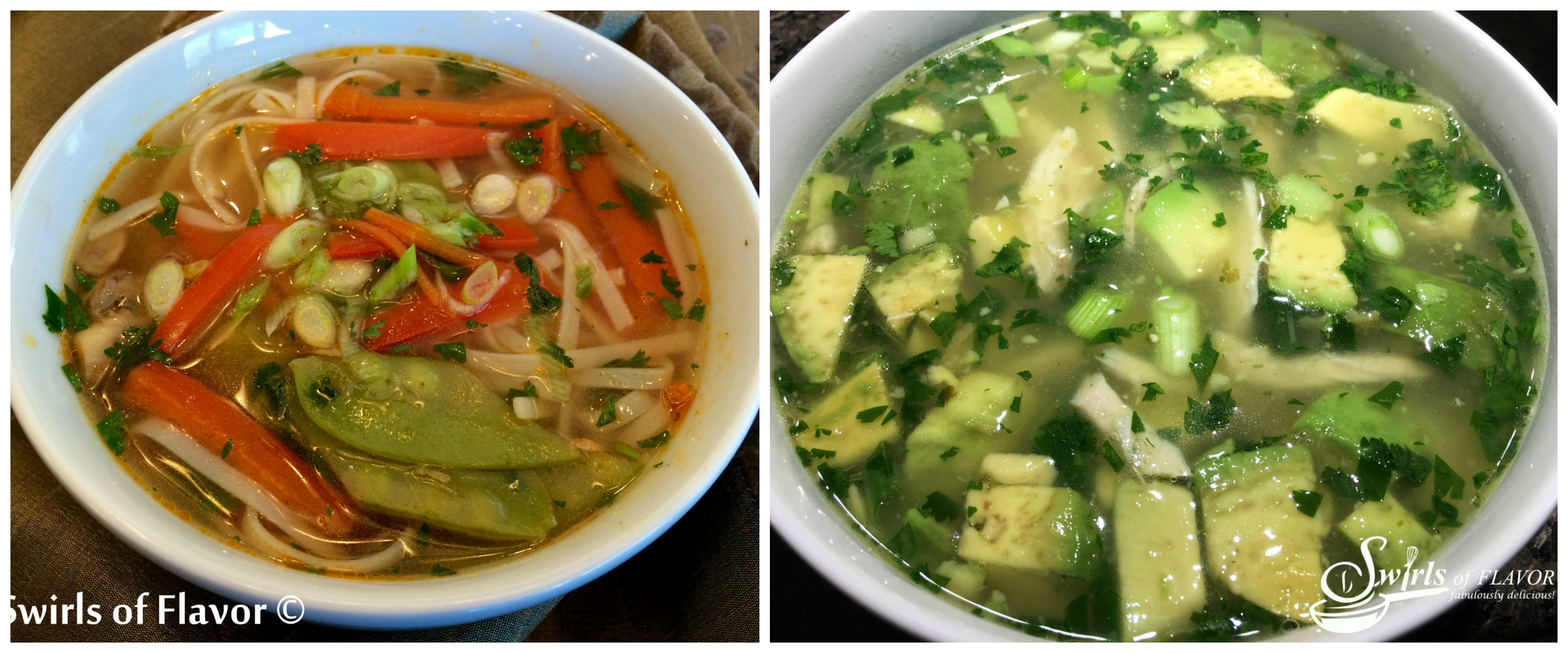 Thai Vegetable Soup and Avocado Chicken Soup