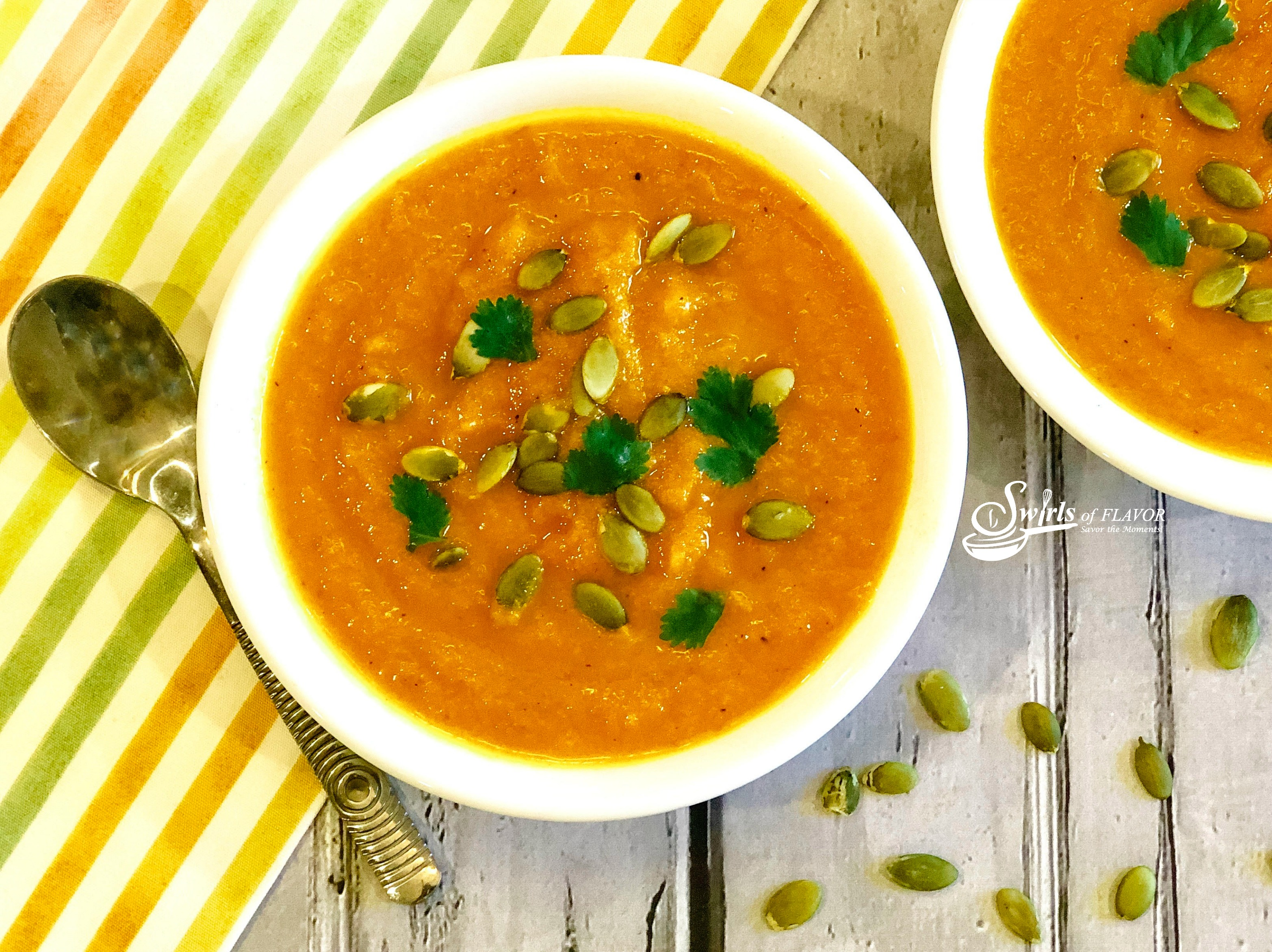 Bowls of Carrot Ginger Soup