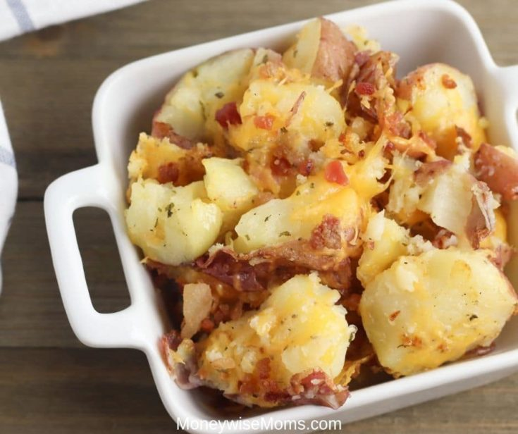 Cheddar Bacon Ranch Smashed Potatoes