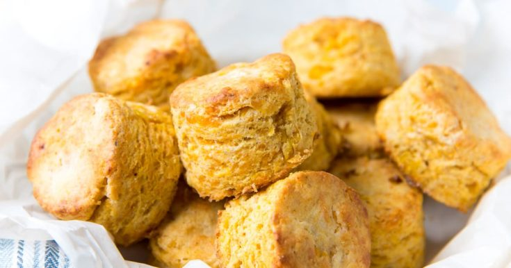 Cheddar Corn Biscuits (Flaky & Delicious) - The Flavor Bender