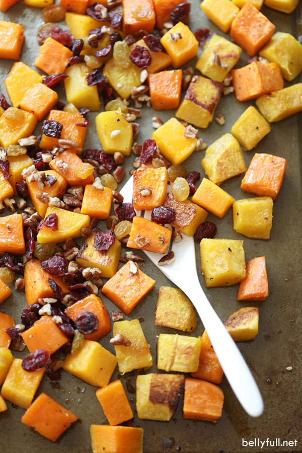 Cranberry-Pecan Fall Roasted Vegetables