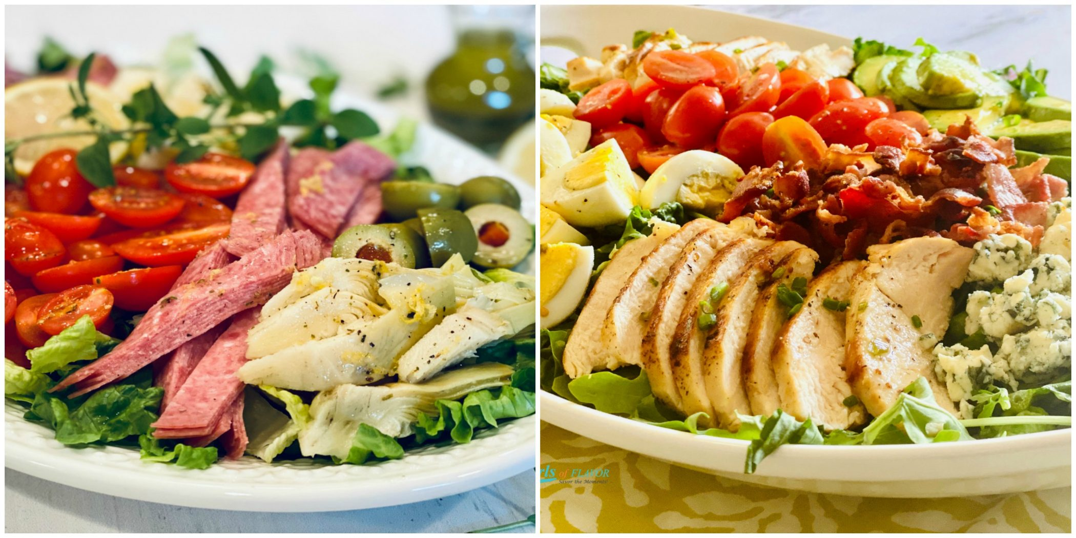 Italian chopped Salad and Cobb Salad