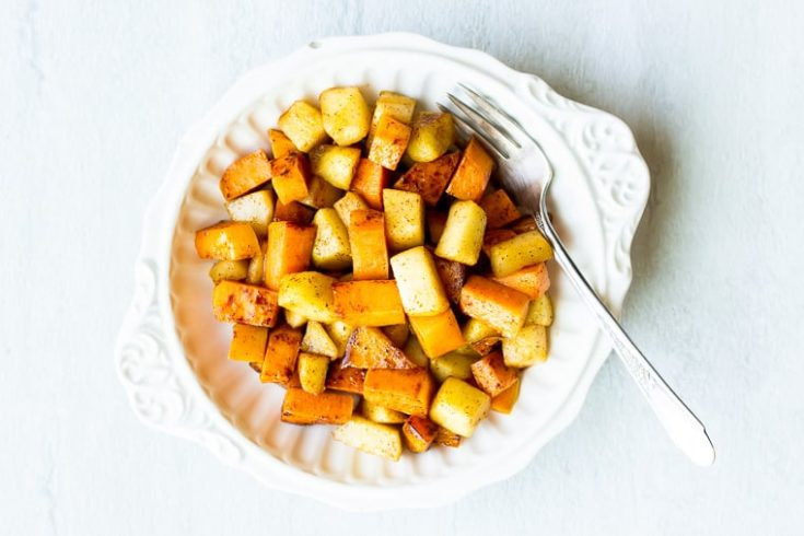 Sweet Potatoes and Apples with Cinnamon & Maple