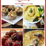 collage of four appetizer recipes with text overlay