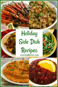 collage of side dish recipes with text overlay