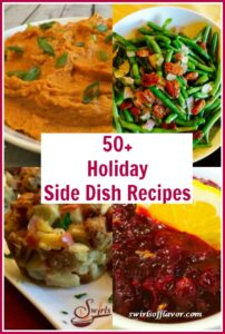 side dish recipes with text overlay