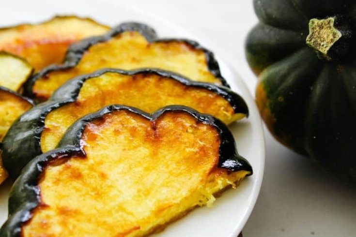 Maple Roasted Acorn Squash Slices | Oven and Air Fryer Directions