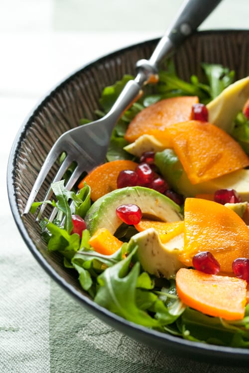 Winter Persimmon and Avocado Salad - Crumb: A Food Blog