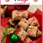 pieces of peppermint fudge with text overlay