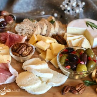 charcuterie board for the holidays