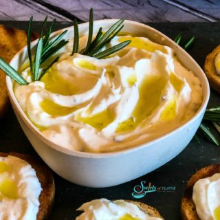 Ricotta Dip with toasts