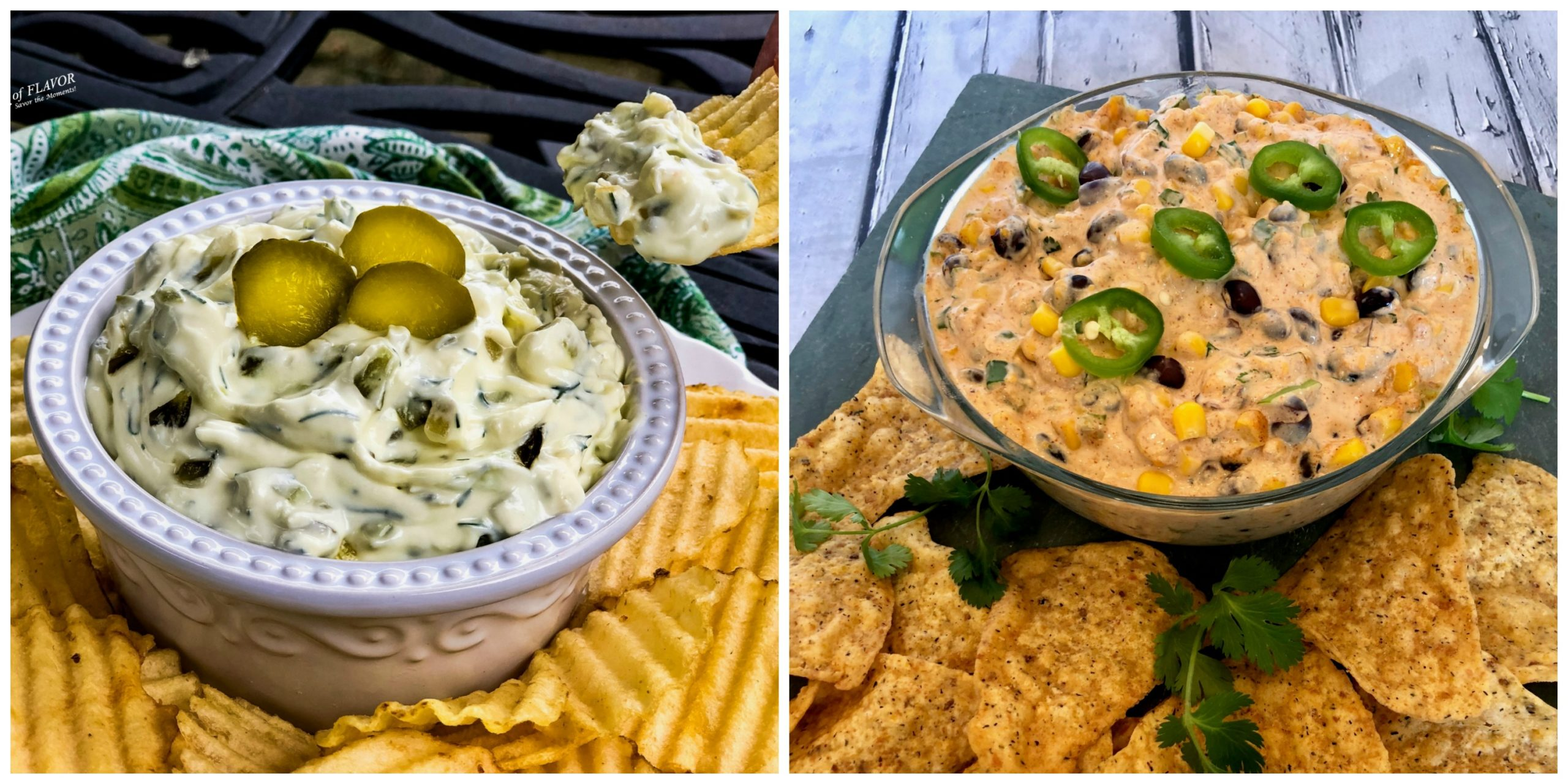 Pickle Dip and Black Bean Dip