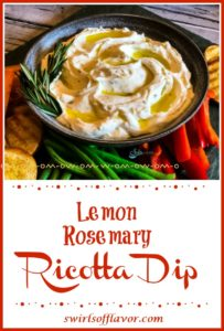 Ricotta Dip with vegetables