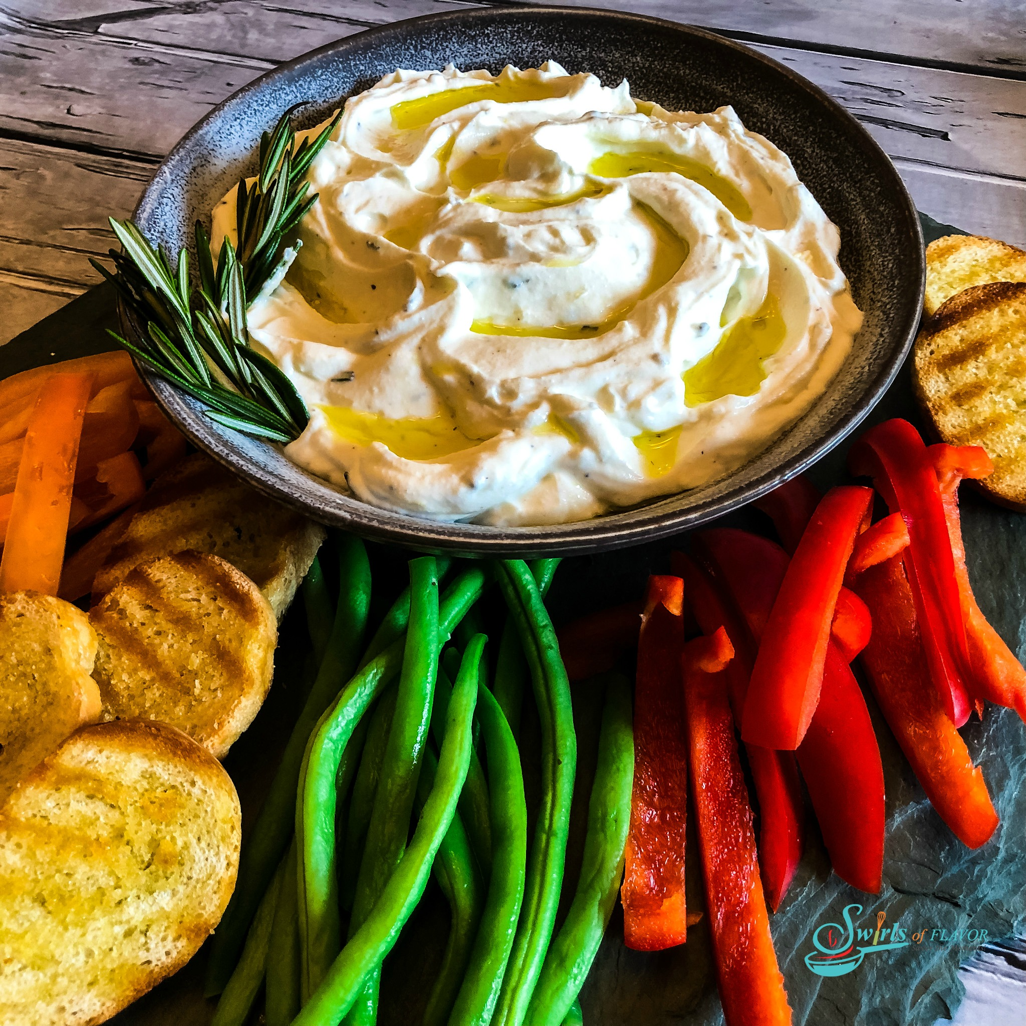 Ricotta Dip with Fresh Vegetables
