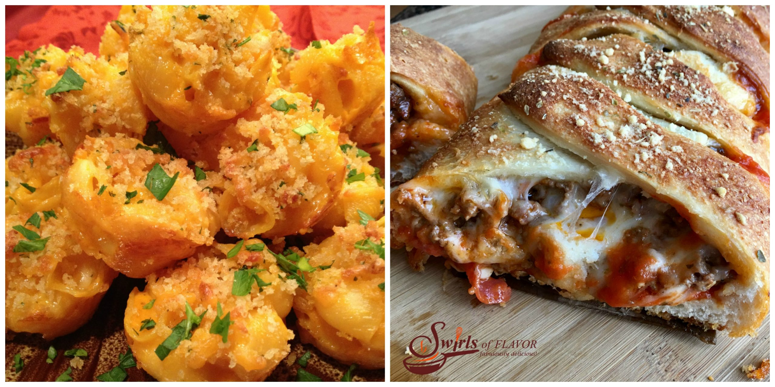 Mac and Cheese Bites and Pizza Bread