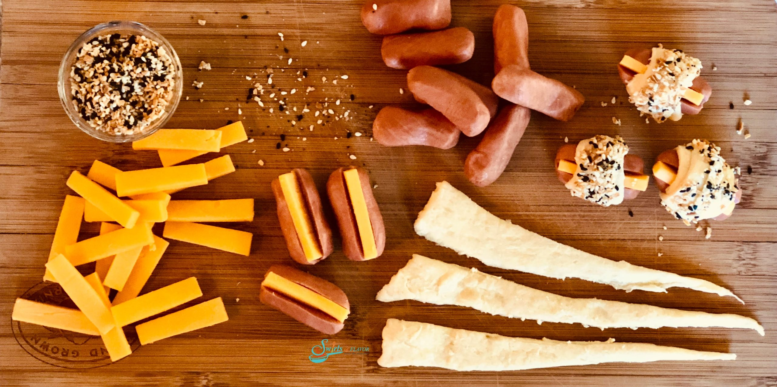 Ingredients for Cheese Dogs