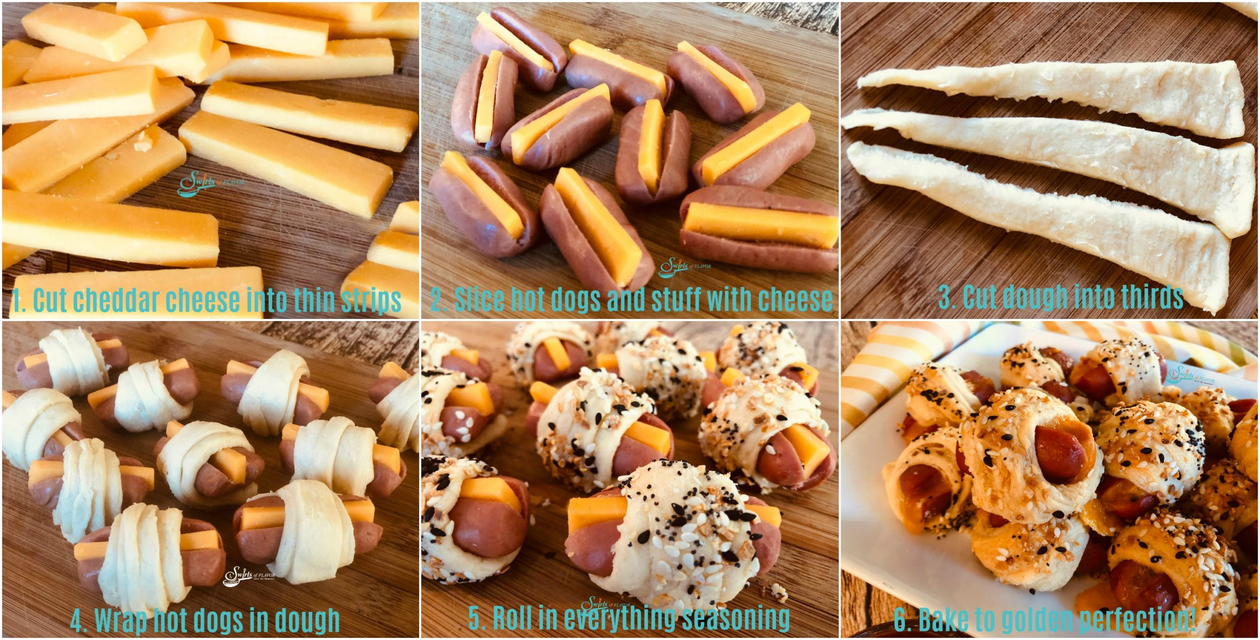 Step by Step hot to make pigs in a blanket
