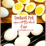 Hard boiled eggs cut in half and in the instant pot