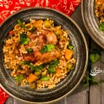 One Pot Chicken With Apricots, Olives and Couscous
