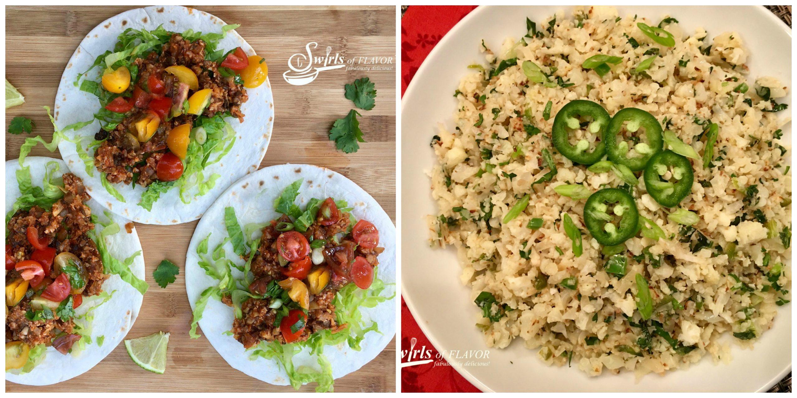 Cauliflower Tacos and Cauliflower Rice
