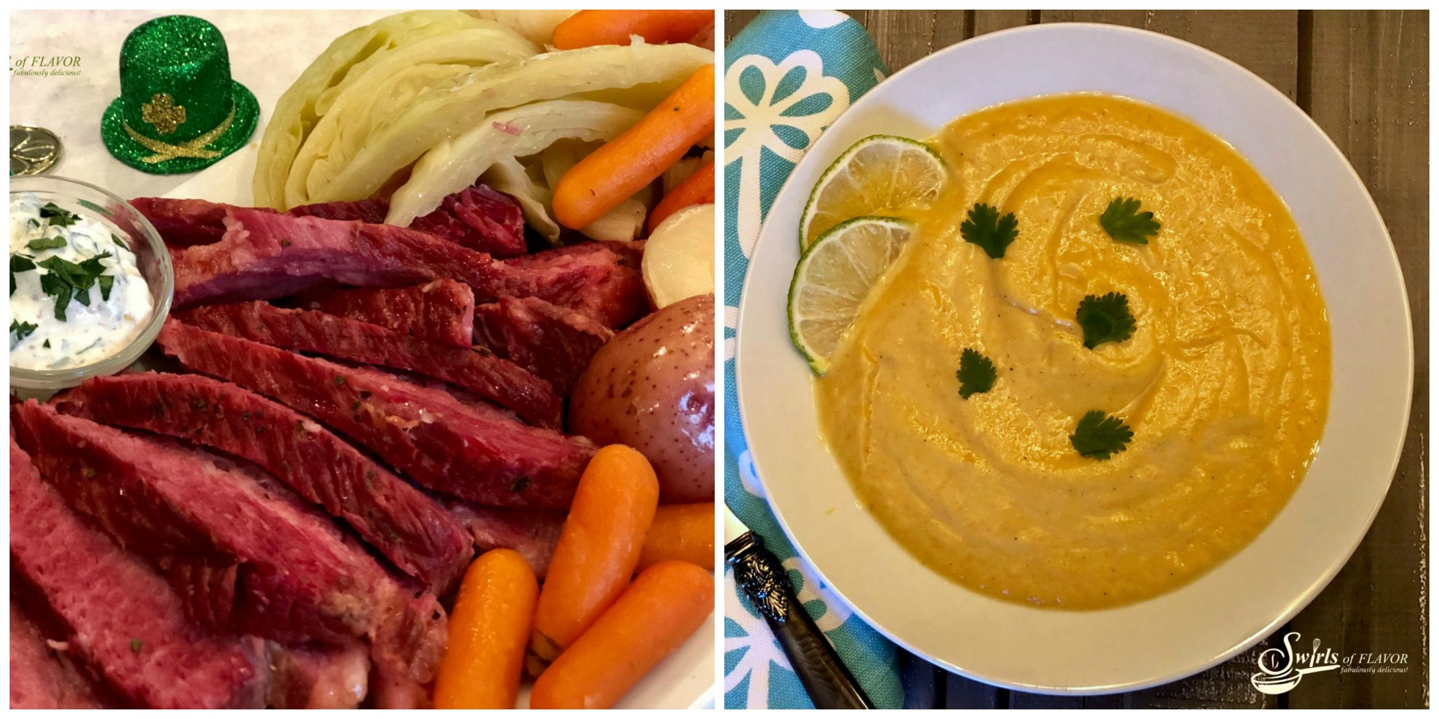 Instant Pot Corned Beef and Instant Pot Cauliflower Soup