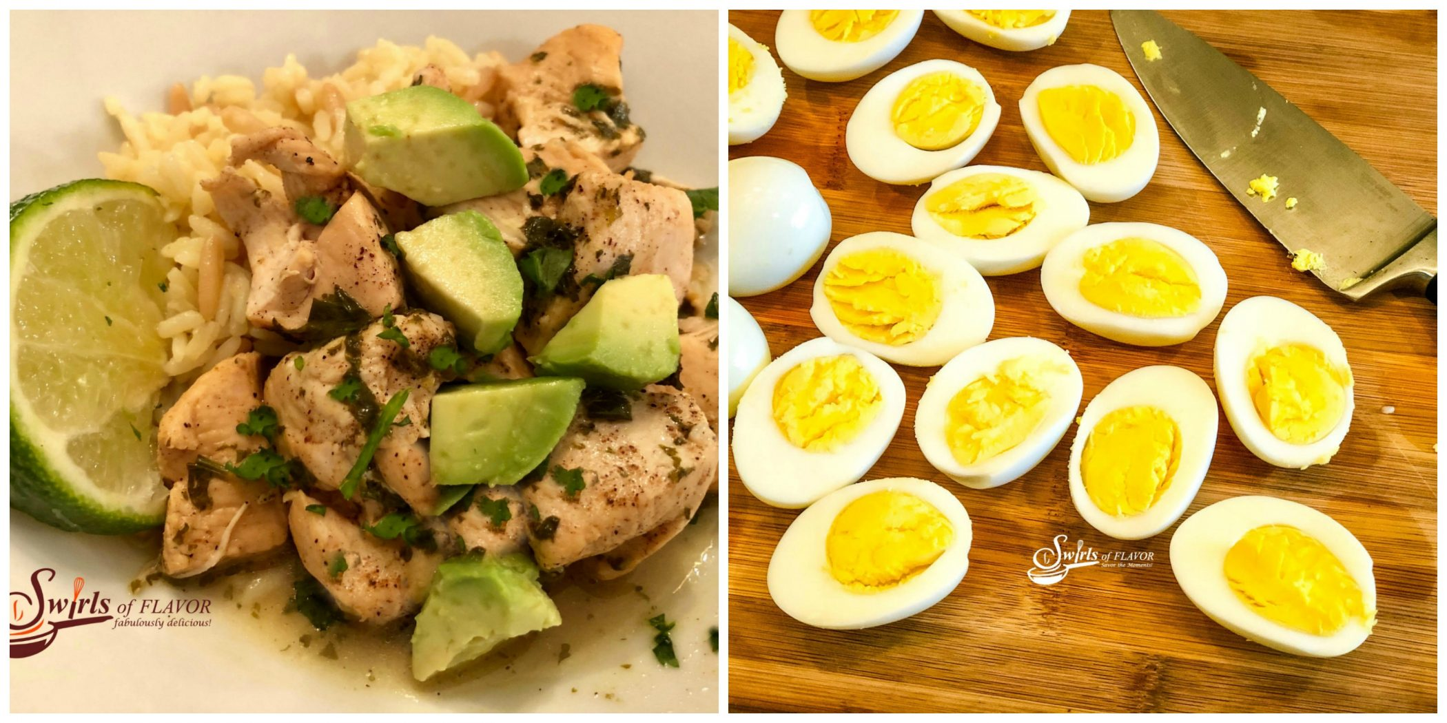 Instant Pot Cilantro Lime Chicken an Instant Pot Hard Boiled Eggs