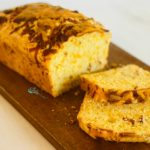Bacon cheddar Cheese Bread on cutting board