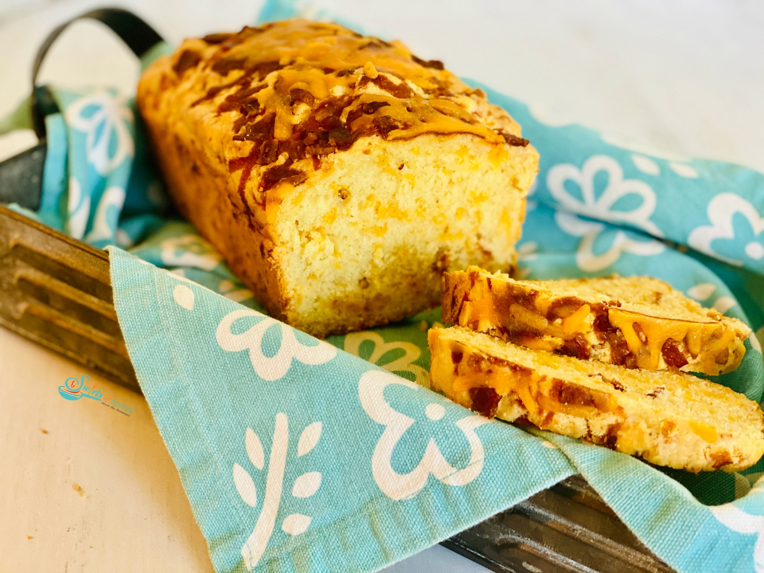Bacon Cheddar Bread in basket