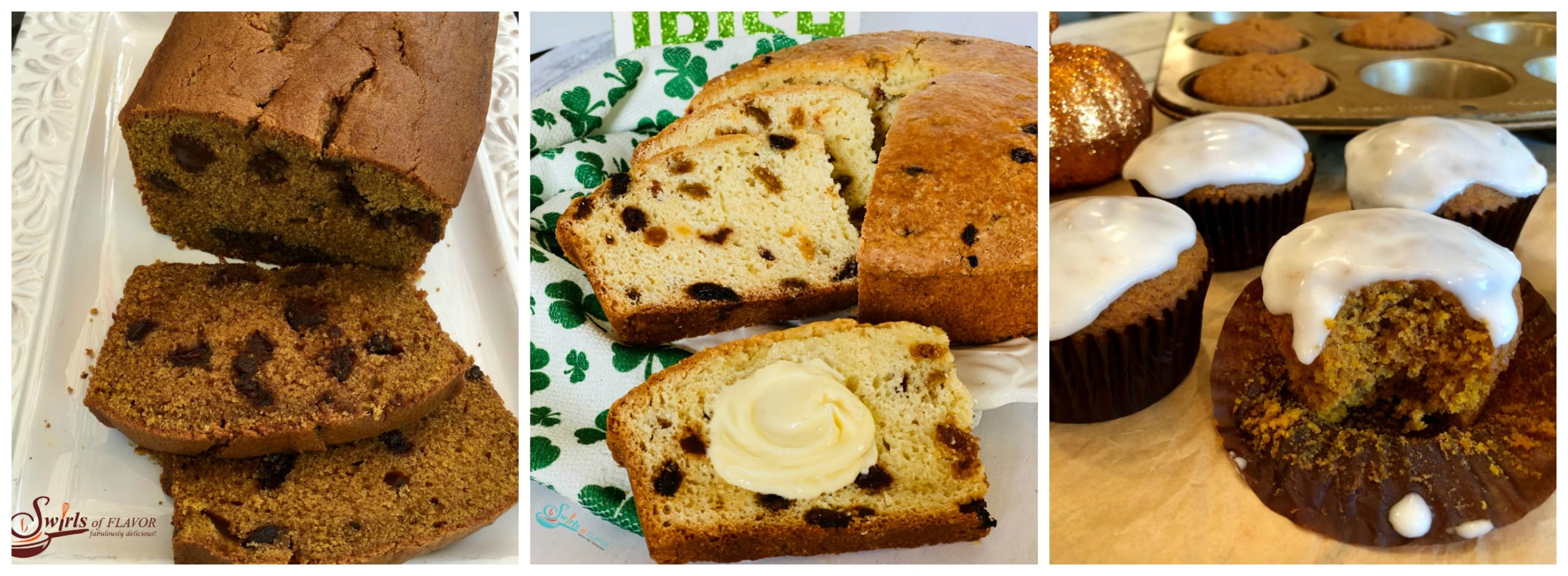Pumpkin Bread, Irish Soda Bread and Pumpkin Muffins