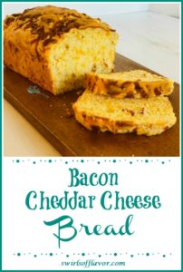 Bacon cheddar cheese Bread on board